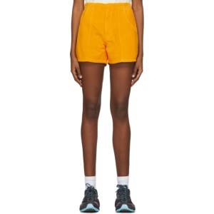 ERL Orange Corduroy Shorts