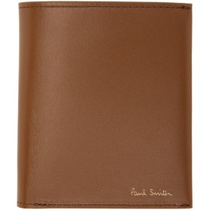 Paul Smith Tan Compact Credit Card Wallet