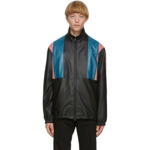Paul Smith Black 80s Panelled Leather Jacket