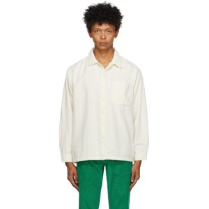 ERL Off-White Corduroy Shirt