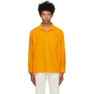 ERL Orange Corduroy Shirt
