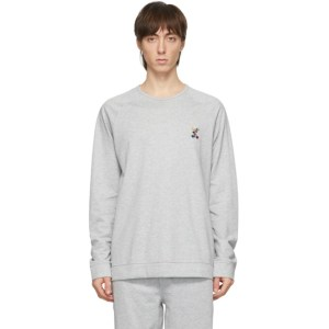 Paul Smith Grey Rabbit On A Bike Long Sleeve T-Shirt