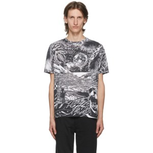 Paul Smith Black and White Chilean Print T-Shirt