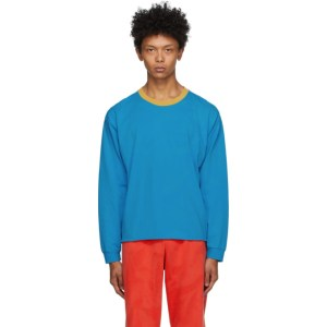 ERL Blue and Orange Jersey Long Sleeve T-Shirt