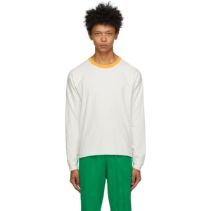 ERL Off-White and Orange Jersey Long Sleeve T-Shirt