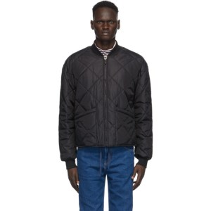 Opening Ceremony Black Quilted Bomber Jacket