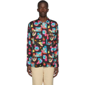 Opening Ceremony Black and Pink Graphic Shirt