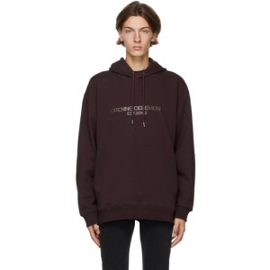 Opening Ceremony Brown Embroidered Logo Hoodie