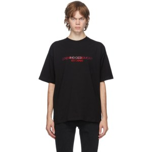 Opening Ceremony Black Embroidered Logo T-Shirt