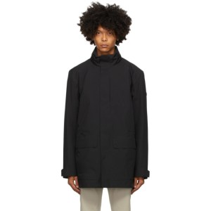 Z Zegna Black Soft Shell Bomber Jacket Lining Coat