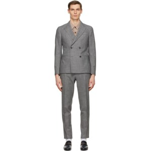Z Zegna Grey Wool Double-Breasted Suit