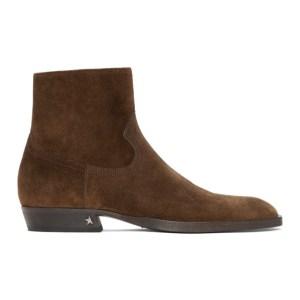 Golden Goose Brown Rock Jimi Zip Boots