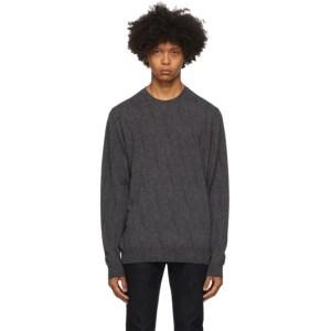 Etro Grey Knit Crewneck Sweater