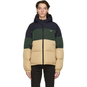 Lacoste Multicolor Water-Repellant Down Jacket