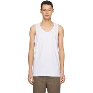 Comme des Garcons Shirt White Jersey Tank Top