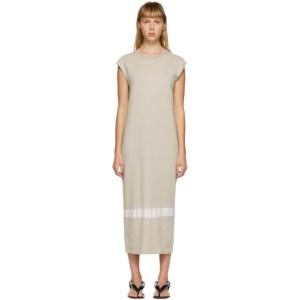 Raquel Allegra Tan Tie-Dye Column Dress