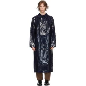 KASSL Editions Navy Coated Original Long Coat