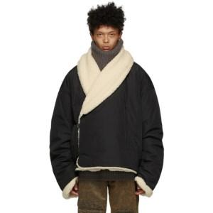 A.A. Spectrum Black Mongolian Fleece Jacket