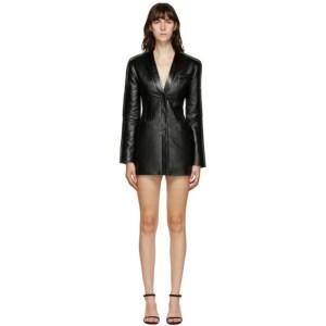 Materiel Tbilisi Black Faux-Leather Short Dress