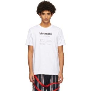 Ahluwalia White Logo Definition T-Shirt