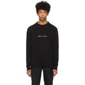 HELIOT EMIL Black Logo Sweater