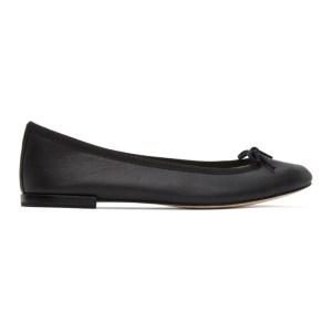 Repetto Black Leather Cendrillon Ballerina Flats