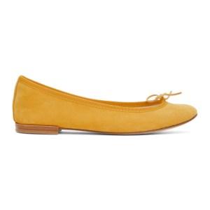 Repetto Yellow Suede Cendrillon Ballerina Flats