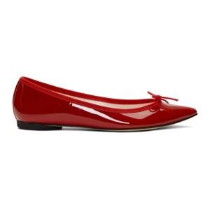 Repetto Red Patent Brigitte Ballerina Flats