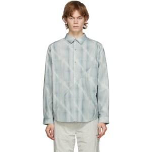 C2H4 Grey Intervein Panelled Shirt
