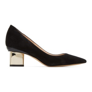 Nicholas Kirkwood Black Suede Prism Pump Heels
