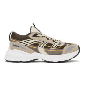 Axel Arigato Grey and Taupe Marathon R-Trail Sneakers