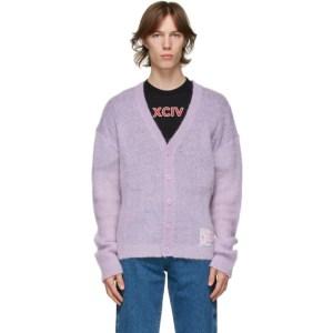 GCDS Purple Puffy Cardigan