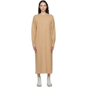 Extreme Cashmere Tan Cashmere Weird Midi Dress