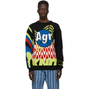 AGR SSENSE Exclusive Multicolor Logo Sweater