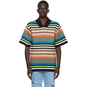 AGR SSENSE Exclusive Multicolor Striped Short Sleeve Sweater