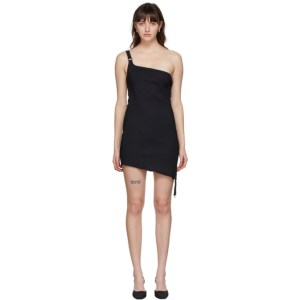 Coperni Black Upside Down Mini Dress