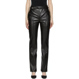 Coperni Black Faux-Leather Optical Illusion Trousers