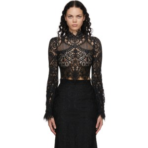 Wandering Black Lace Blouse