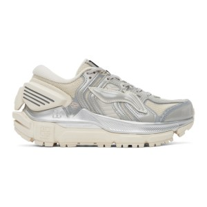 Li-Ning Off-White and Silver Sun Chaser Sneakers