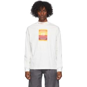 Li-Ning White Hexagon Long Sleeve T-Shirt