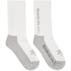 Juun.J White Reebok Edition Jersey Socks