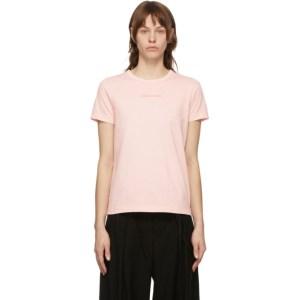 Juun.J Pink Embroidered T-Shirt