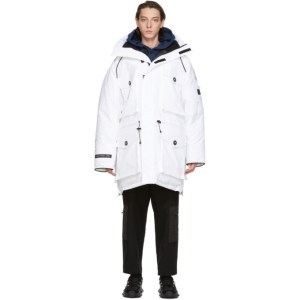 Juun.J White Canada Goose Edition Down Expedition Parka
