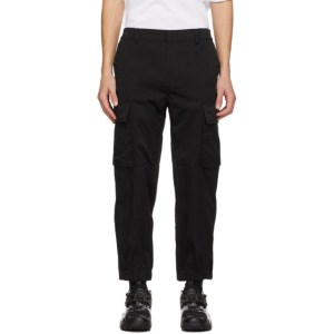 Juun.J Black Twill Cargo Pants