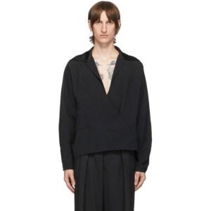 Mugler Black Crepe Shirt