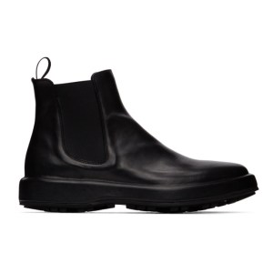 Officine Creative Black Unica 2 Chelsea Boots