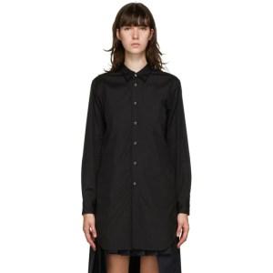 Comme des Garcons Homme Plus Black Double Panel Shirt Dress