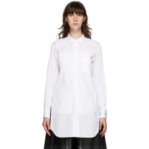 Comme des Garcons Homme Plus White Pocket Shirt Short Dress