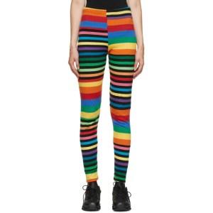 Comme des Garcons Homme Plus Multicolor Cotton Rainbow Stripe Legging