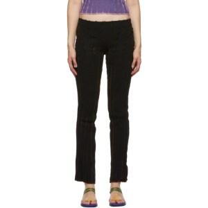Helenamanzano SSENSE Exclusive Black and Brown 3D Stripe Lounge Pants